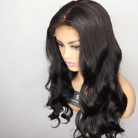 100% human hair indian lace front wigs without bangs body wave pre-plucked lace frontal wigs with baby hair