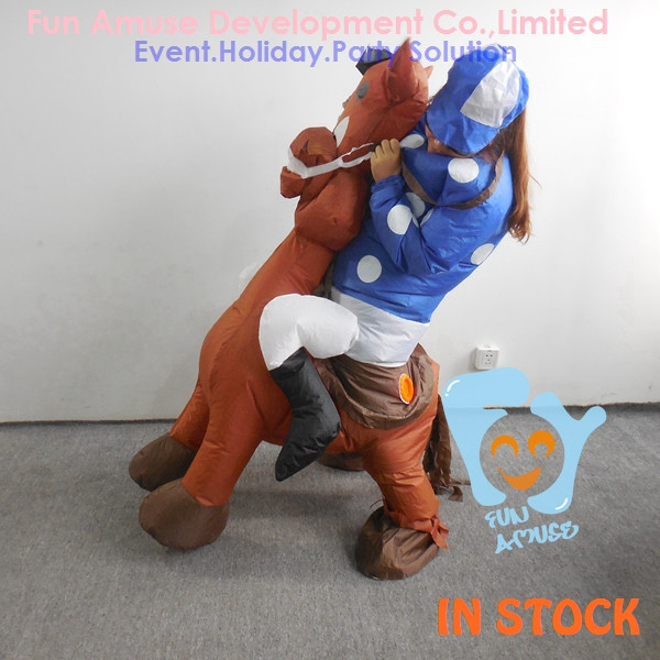 funny Halloween adult costume inflatable horse
