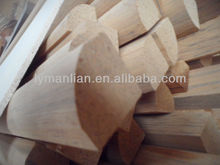 recon teak 1/4 round wood moulding