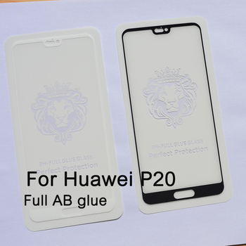 Second time reinforcement Silk printing FULL Glue full cover Tempered glass screen protector for Huawei P20