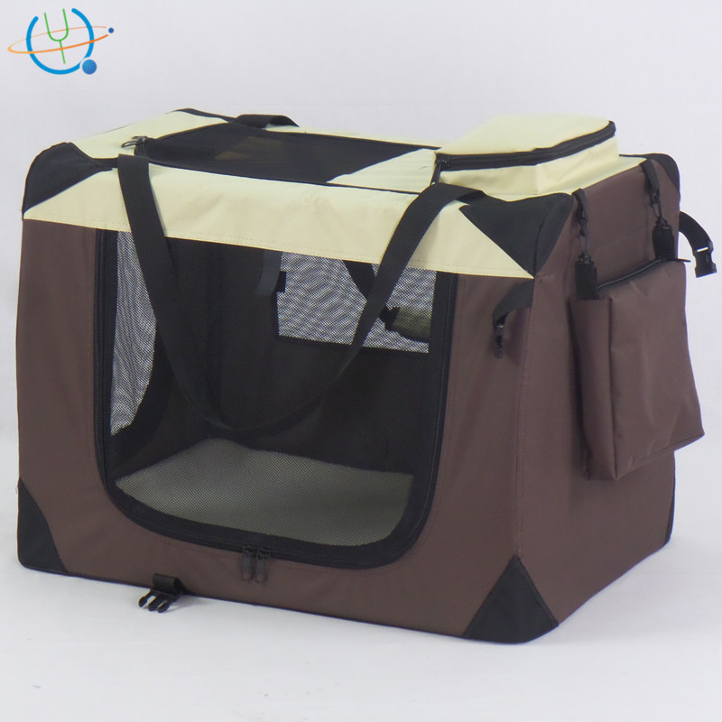 Folding Pet Dog Cat Carrier Crate Cage Soft Travel Tote Kennel House
