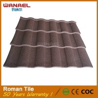 Wanael black color galvanized corrugated steel roof tiles fire-resistant metal roof tiles
