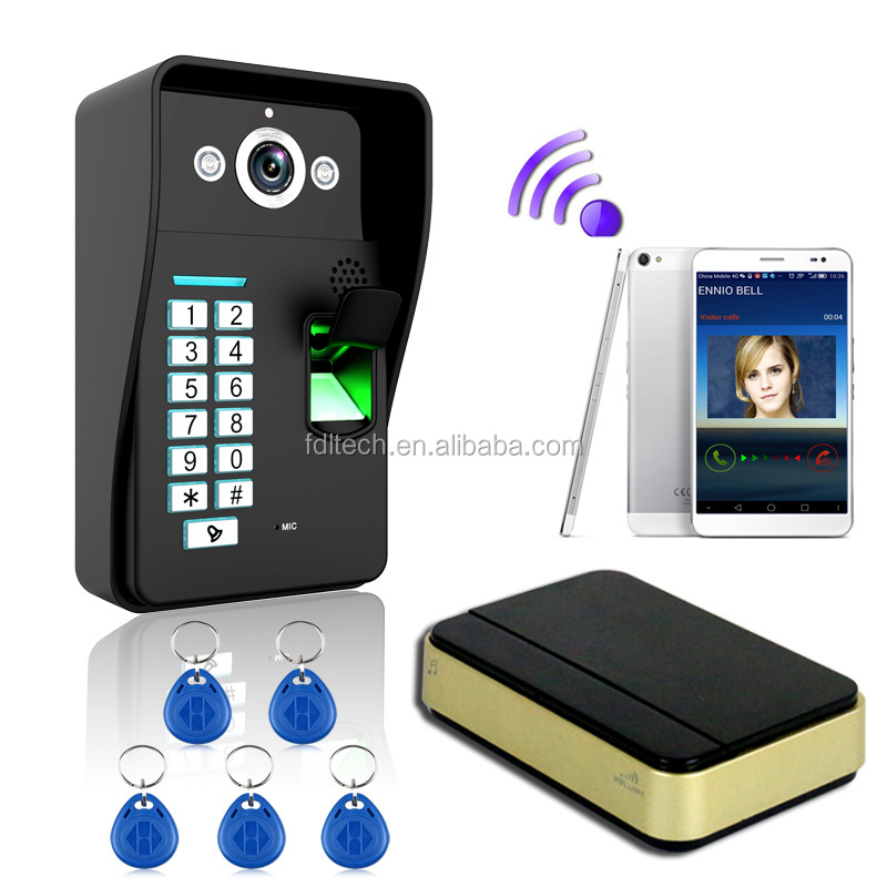 Good quality wireless video door phone peephole doorbell wifi camera monitor