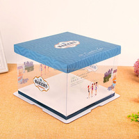 popular clear plastic cake box with logo printing Box Cakes Clear Plastic Cake Boxes Elegant