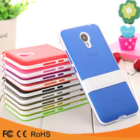 High quality low price kickstand PC+TPU mobile phone case cover for meizu meilan note