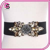 China factory customize wholesale women trendy elastic corset belt with crystal
