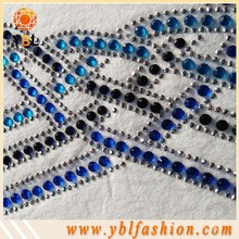 Korean Blue hotfix rhinestone stickers for shoes Decoration