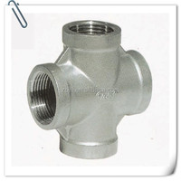 Stainless steel pipe cross