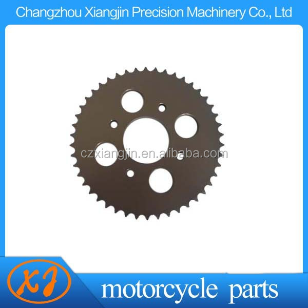 CNC aluminum motorcycle rear sprocket with anodized
