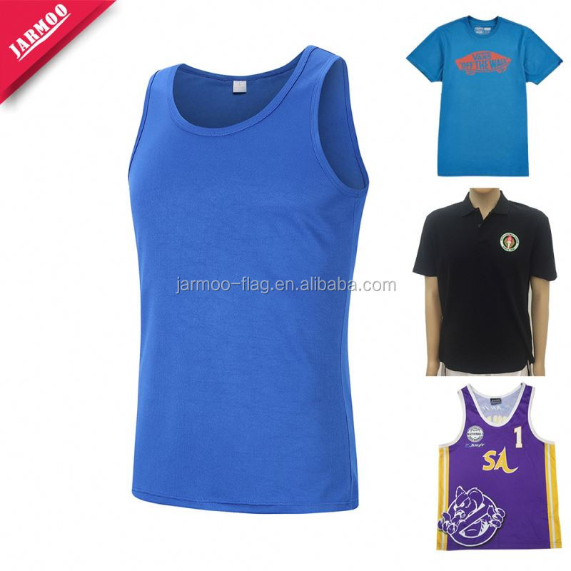 Custom Decorative Blue Customized Running Shirt Dry Fit