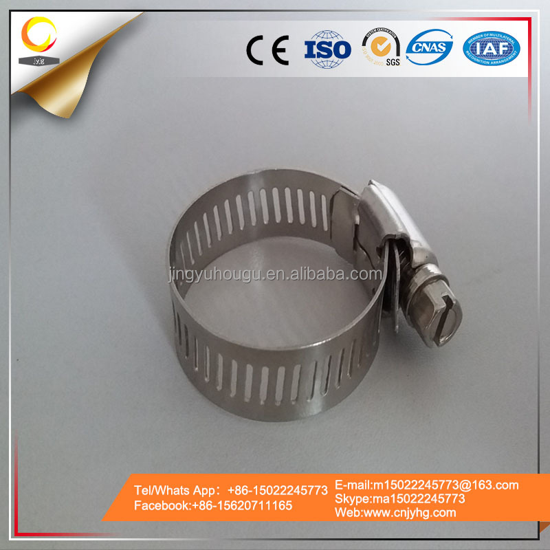 Taiwan Fastener American Type Perforated Hose Clamps,Hose Band Clips