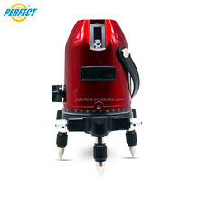 3 lines red beam laser with 660nm leveling equipment for sale