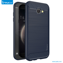 IPAKY TPU Carbon Fiber Case For Samsung Galaxy A5 2017 mobile phone housing