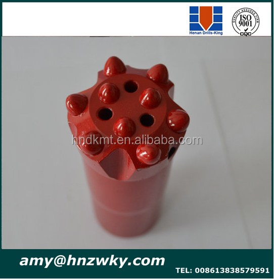tungsten carbide rock drill r32 45mm bit long skirt 9 buttons