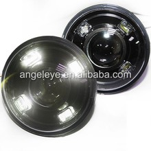 For Jeep Wrangler 4 LED Head Lights Head lamp front light Bi Xenon Projector Lens 2007-2011 Year for Porsche style