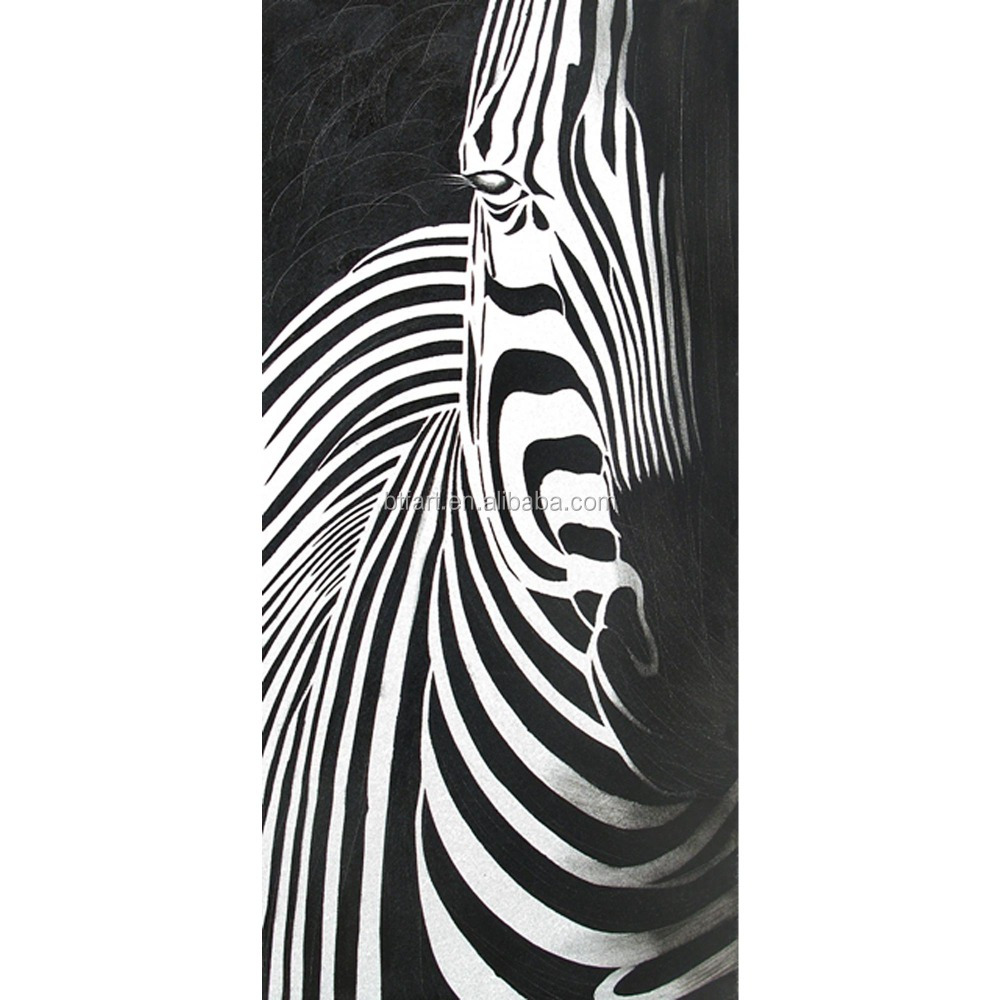 home decor abstract zebra oil painting