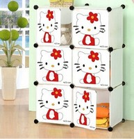 New product easy to clean assemble plastic living room cabinet