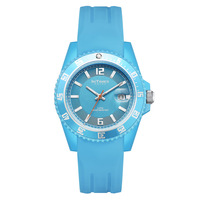 InTimes Lady Fashion Watch Plastic Case 40mm Silicon Band 19mm Quartz Watches 50M Waterproof Blue IT-CF066 Retail Wholesale OEM