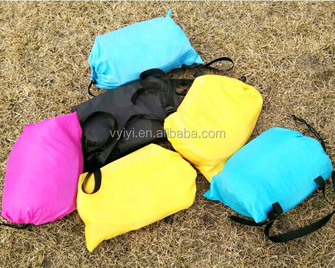 (Factory) 2016 Hangout Sleeping Bag, 10S Fast Inflatable Sleeping Bag Sofa, Camping Air Banana Sleeping Bag Bed Lazy Chair
