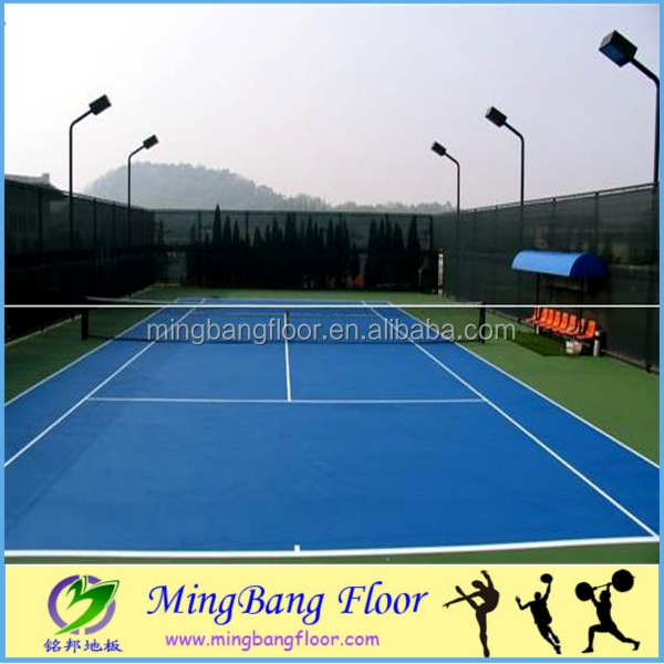 Floor tiles outdoor protable badminton court flooring price