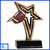 painting star and rugby trophy resin figure