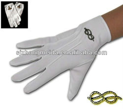 White Cotton glove with PVC Dots on Palm Parade Gloves