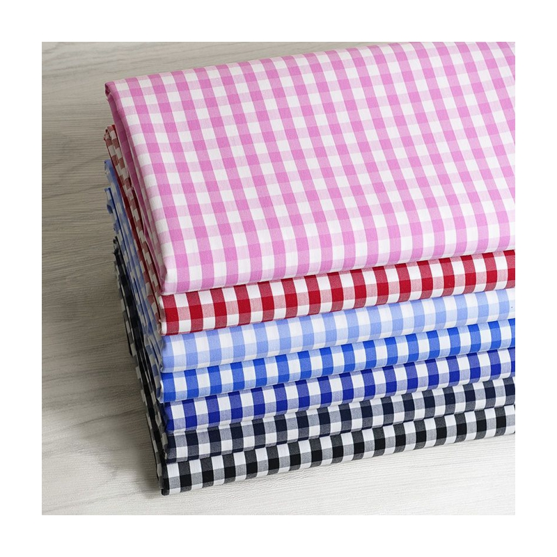 Hight quality yarn dyed african colorful cotton plaid fabric