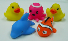 lovely soft PVC sea animal,kids bath toy ,rubber floating animal