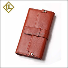 Cheap best selling magnet button protective cowhide genuine leather men's wallet