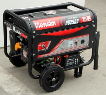 Portable petrol generator set with Honda