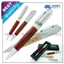 wood pen set usb stick 16gb , rosewood pen, toshiba usb, promotional items