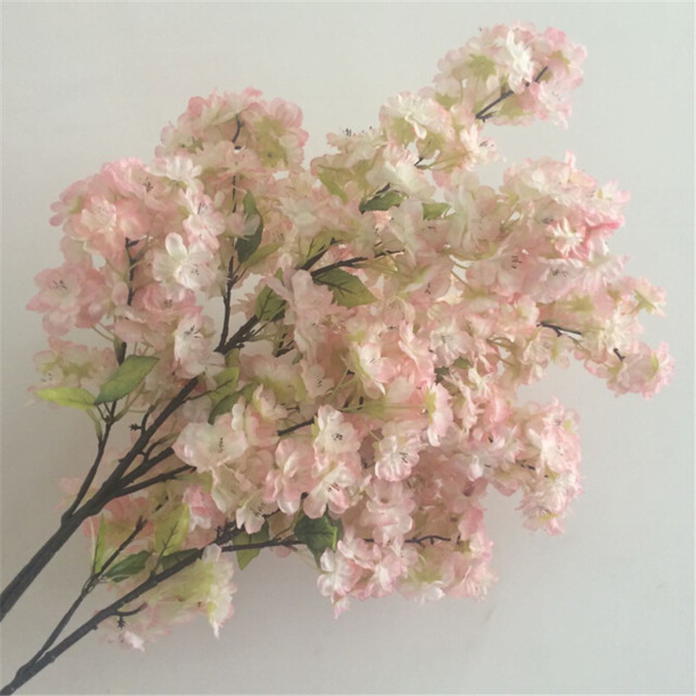 Many kinds of artificial flower branches for cherry tree