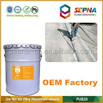 A professional grade Color grey OEM Polyurethane Self-Leveling resilient Concrete Sealant