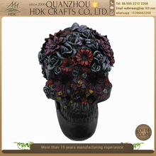 Hot selling head wholesale halloween flower skull decoration