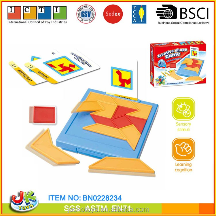 Plastic tangram ever-changing creative shape game