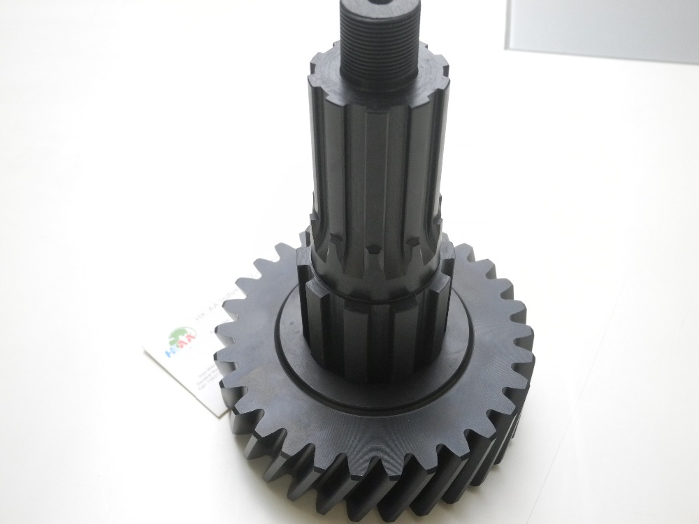ISO OEM sand blasted material c45 carbon steel gear,double spur welded reducer gear for lighting devices