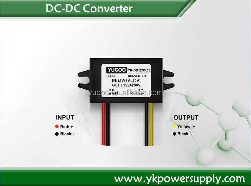 Programmable 12v to 3.3v MIni dc Power Supply Converter for car