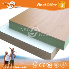 Standard Size Melamine Faced MDF Board