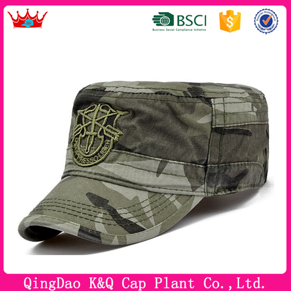 Wholesale Cheap and Military Hats With Printed Logo On Front Panel