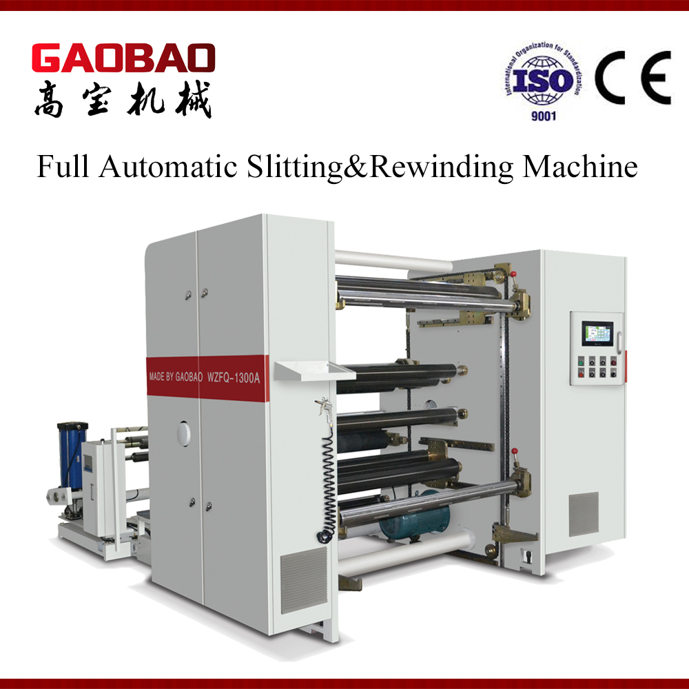 Plastic Film And Paper Slitting And Rewinding Machine Full Automatic