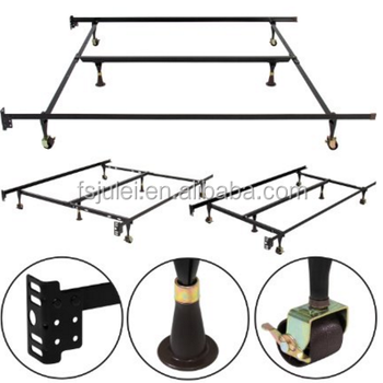 3 Adjustable Sizes Wheel Metal Bed Frame With Wheels