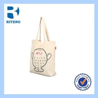 Wholesale Blank custom printed long strap shoulder canvas tote bags