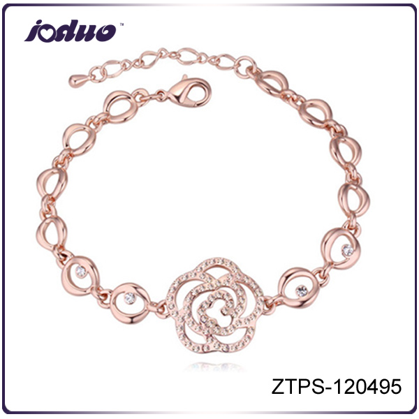 High Quality 2016 Lady Elegant Camellia Crystal Bracelet
