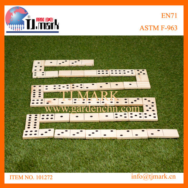 28PCS PREMIUM WOODEN DOMINOES 15*7.5*1.5/PC