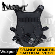 WoSporT transformers tactical vest black Airsoft Tactical Army Combat Military Vest nylon