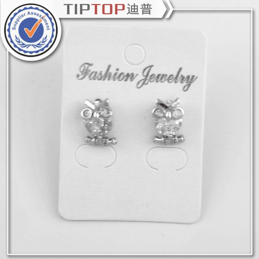 2015 summer new gold plated zircon earrings owl Wholesale! Women crystal stud earrings made with Austria SWA Elements