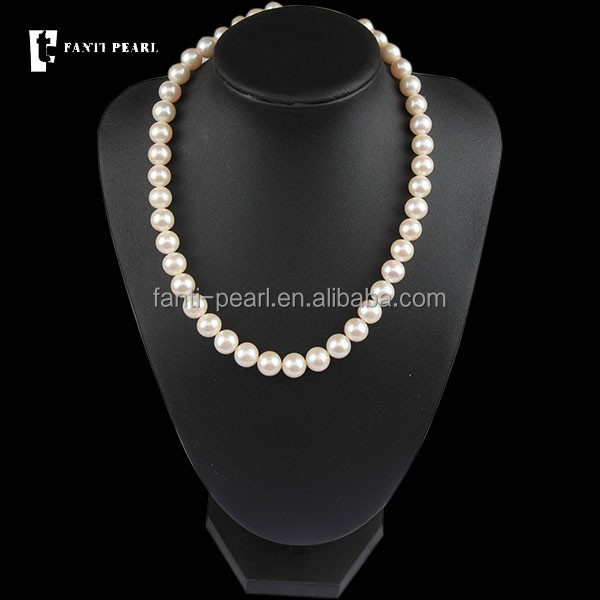 large cheap pearl necklaces/ freshwater perle stands modern necklaces price
