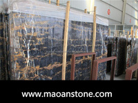 Top Grade Afghanistan Black And Gold Marble Slab