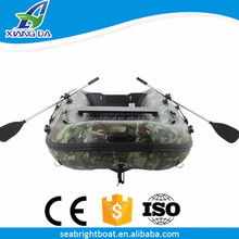 CE Certification China Factory Aluminum Floor Camouflage 1.2mm PVC Inflatable Boat for Sale