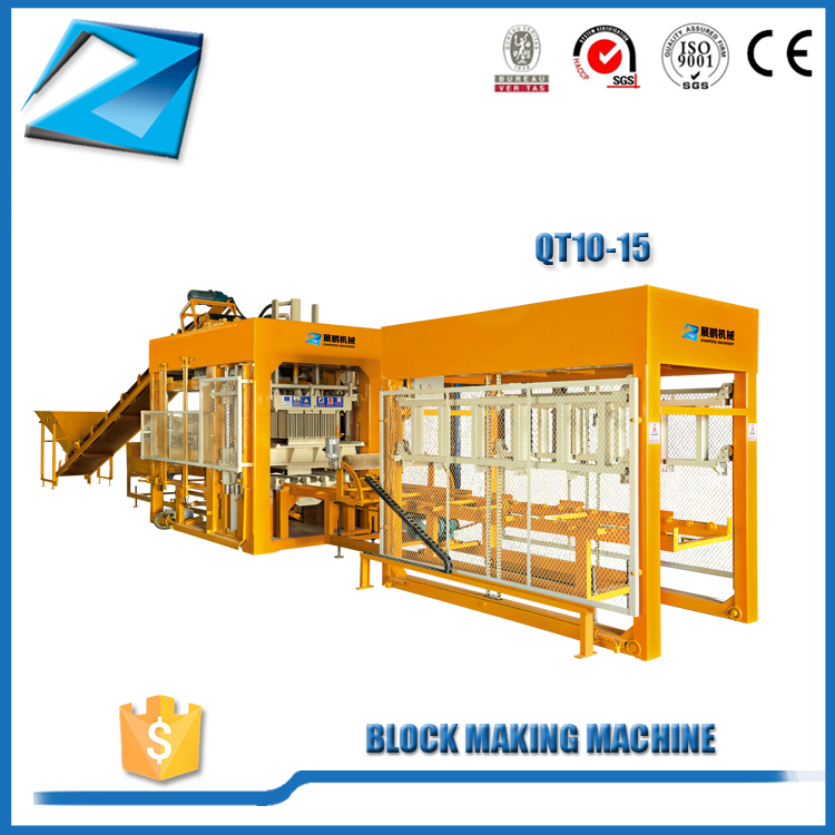 QT10-15 fully automatic hydraulic hollow block making machine philippines